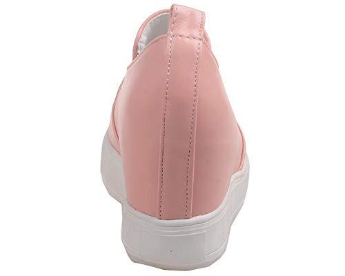 Alto Ballet Tacco Donna Rosa Flats AllhqFashion Punta Chiusa FBUIDD008395 Luccichio w1RXxnqZA
