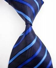 jacob alex #38818 Classic Necktie Multi-Color Striped Tie WOVEN JACQUARD Silk Men's Suits Ties (Famous Couples Halloween)