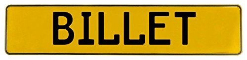 Vintage Parts 596445 Wall Art (Yellow Stamped Aluminum Street Sign Mancave Billet) (Billet Aluminum Circles)