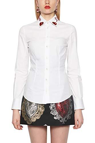 & Shirt Gabbana Dolce Dress Cotton (Dolce e Gabbana Women's F5j56zgd02tw0800 White Cotton Shirt)