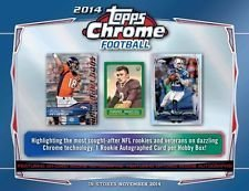 Topps Teddy (4 pack lot of 2014 Topps Chrome Football Cards from hobby box (4 cards per pack) - Possible Rookie Autographs of Odell Beckham, Johnny Manziel, Blake Bortles, Teddy Bridgewater, Sammy Watkins and more)