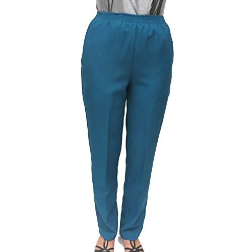 49d1a5fc934 24k By Mr. K Women s Everyday Slacks Pull On Elastic Waist For Dressing  Ease on