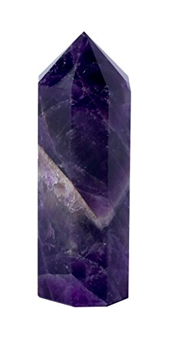 Faceted Amethyst Stone (8 Faceted Natural BANDED / CHEVRON AMETHYST Single Terminated Sacred Octagon INFINITY Point. Genuine Crystal Gemstone supercharged with Usui Reiki, Seraphim Blueprint Energies, & Dowsing Protocols)
