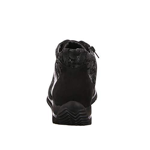 Waldläufer De Cordones Zapatos Mujer Negro Para nY1qp1gw
