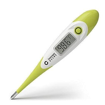 Termómetro digital, lectura en 15 segundos, vía oral, rectal y axilas, para