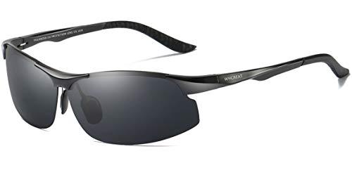 De Negro Al Fishing Polarizadas Hombre WHCREAT Negro Gafas Marco Conducción Mg Para Metal Sol De Ultraligero Sports De wwzt6T