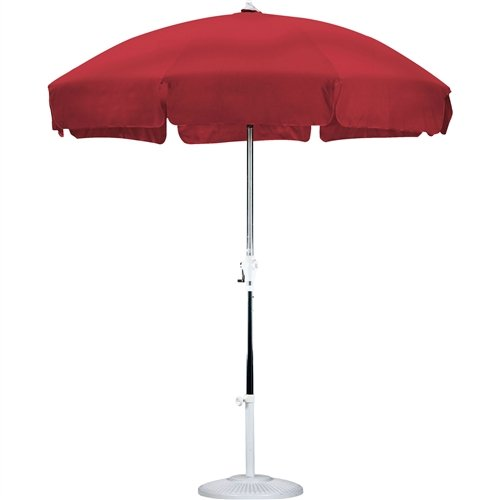 LordBee Outdoor Patio Garden Red 7.5 Ft Deck Backyard Yard Balcony Umbrella with Push Button Tilt Headwear Beach Pool Side