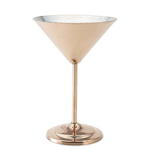 Kuprum Copper Tinned Martini Glass, 10 oz by Kuprum