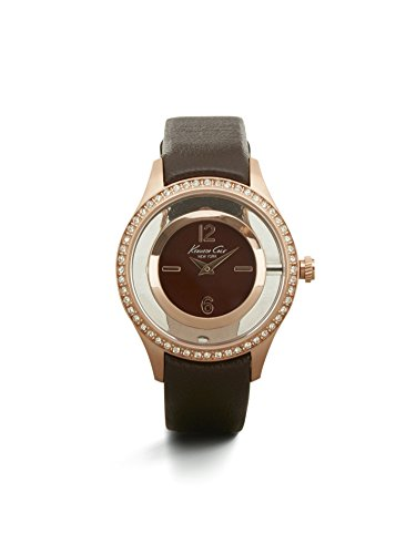 Kenneth Cole New York Women's Transparent Rose Goldtone With Stone Bezel Watch