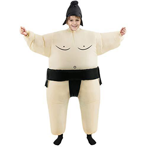 Inflatable Kids Sumo Wrestler Wrestling Costume Halloween Party Cosplay ()