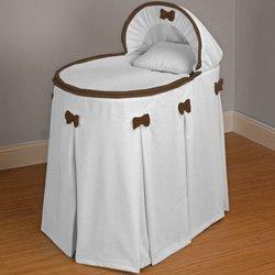Babykidsbargains Perfe Countly Pretty Chocolate Bassinet Liner Skirt and Hood, 13'' x 29''
