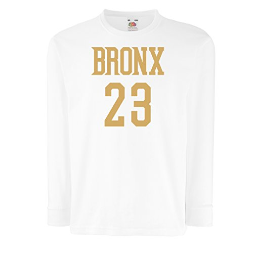 T-Shirt For Kids Bronx 23 - Street Style Fashion (14-15 Years White Gold)
