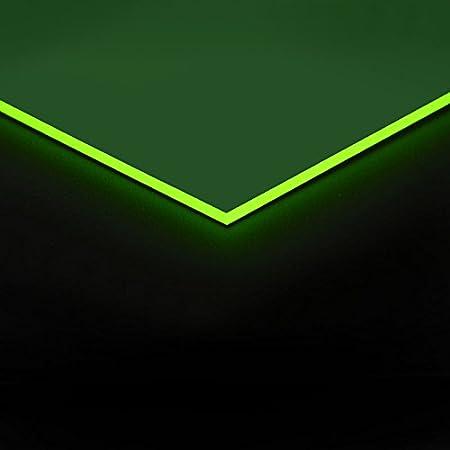 3mm Acrylglas Platte 100x70 cm gr/ün fluoreszierend