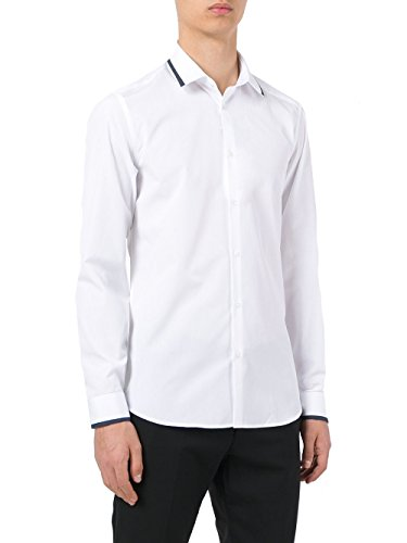 Kenzo Homme F755CH1061FA01 Blanc Coton Chemise