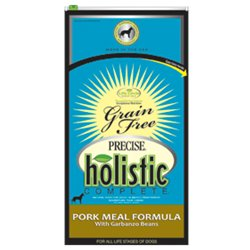 Precise Holistic Complete Grain Free Pork with Garbanzo Beans Dry Dog Food (6lb)