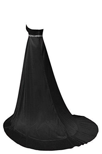 Empire elegante Maxi Black Chiffon A da sera Line sera abito Sunvary FwqgfW0TBE