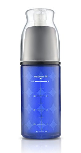 Price comparison product image Continuous Fine Mist Spray Essential Oil Glass Bottle - Use the Mister / Sprayer to Spritz Your Hair & Body with Oils or water - Refillable / Reusable Cobalt Blue Aromatherapy Container