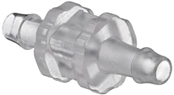 """Value Plastics N004-9 Straight Through Tube Fitting with 500 Series Barbs, 1/16"""" (1.6 mm) ID Tubing, Clear Polycarbonate (25-Pack)"""