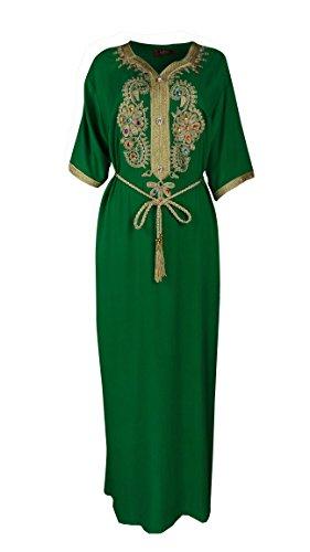 Baya Muslim Abaya Caftan Dubai Dress Women Islamic Clothing Rayon Gown Jalabiyas