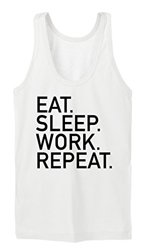Eat Sleep Work Repeat Tanktop Girls Blanc