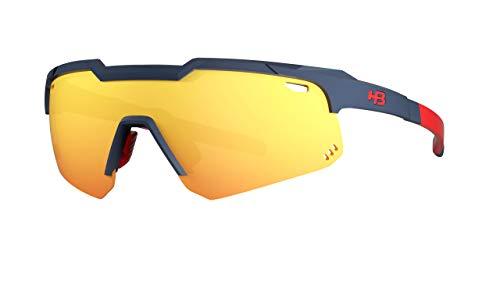 Óculos HB Shield Evo M Matte Navy Multi Red