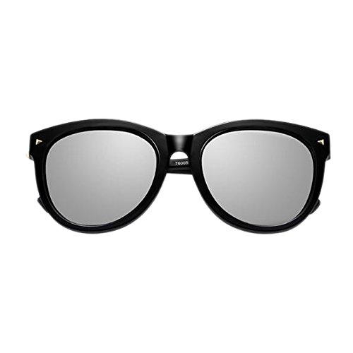 de Black Blue Versión Sol polarizadas Moolo Black Femeninas Cara Caja HLMMM de Retro mercury Sol Redonda Marco de Redondo frame Salvaje Personalidad Coreana Frame de Gafas Color la Gafas Ice 6FY6g