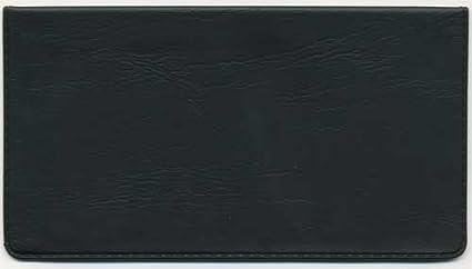 amazon com black vinyl checkbook cover check registers office