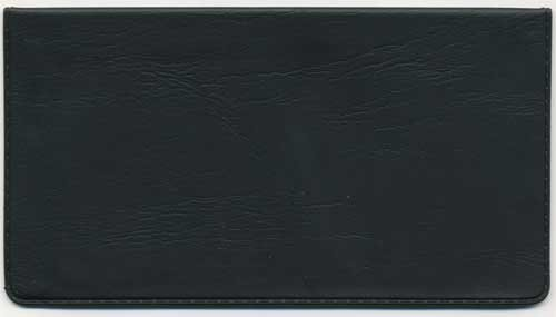 Black Vinyl Checkbook Cover (Checkbook Black Cover)
