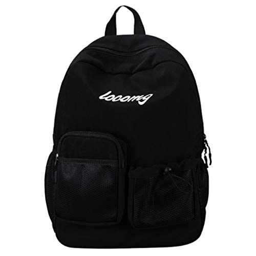 (Pengy Student Anti-theft Nylon Backpack Cloth Daily Waterproof Hiking Laptop Backpack with Multi Pocket)