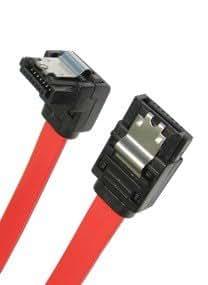 45cm SATA II (Serial ATA 2) Câble (3 Gb / s) - Droit à angle droit - verrouillage Lock (chef de file ne peut pas se desserrer déconnecter) - Homme à Homme (MM)