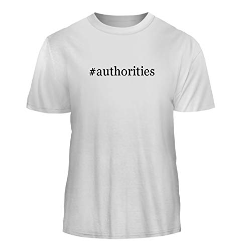 Tracy Gifts #Authorities - Hashtag Nice Men's Short Sleeve T-Shirt, White, Medium