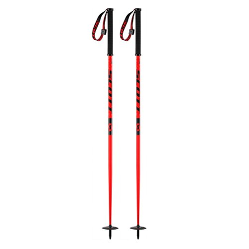 Scott Riot Ski Poles - 44in/Red (Riot Ski)