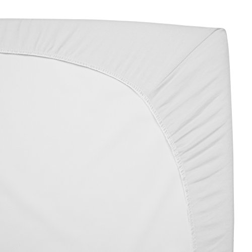 American Baby Company 2 Pack 100% Natural Cotton Jersey Knit 18 x 36 Cradle Sheet - Fitted, White, Soft Breathable, for Boys and Girls