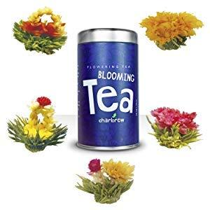 Bulbos de Te en Flor de Charbrew (5 Flores Diferentes de Te) Bolas de Te Verde y de Jazmin Envasadas al Vacio Una Por Una