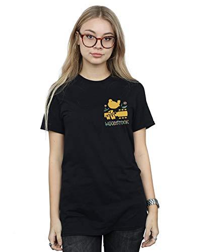 Mujer Camiseta Del Logo Negro Novio Woodstock Fit Breast Cult Absolute XqPYxF1wEp