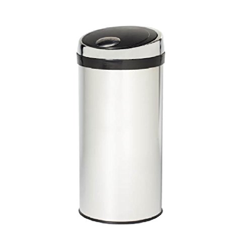 Creative Home 30 Liter/ 8 Gallon Round Push to Open Trash Can, 30L, Stainless Steel - Mirror Finished, 2 Piece