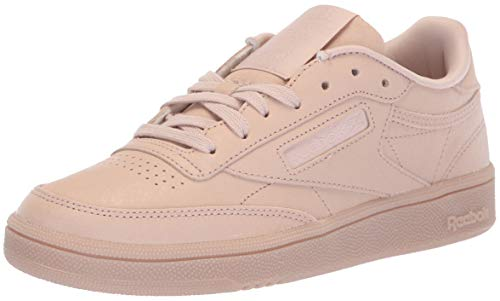 Reebok Women's Club C 85 Walking Shoe, face-Bare Beige/White, 10.5 M US