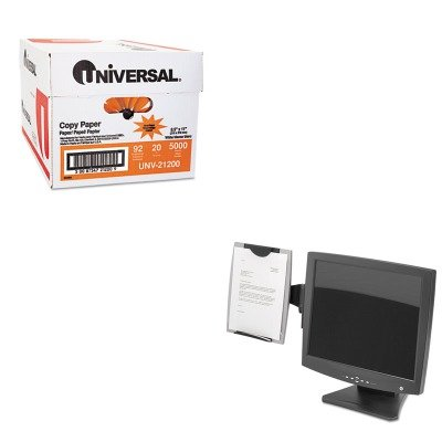 Copyholder Fellowes Mount Monitor (KITFEL8033301UNV21200 - Value Kit - Fellowes Office Suites Monitor Mount Copyholder (FEL8033301) and Universal Copy Paper (UNV21200))