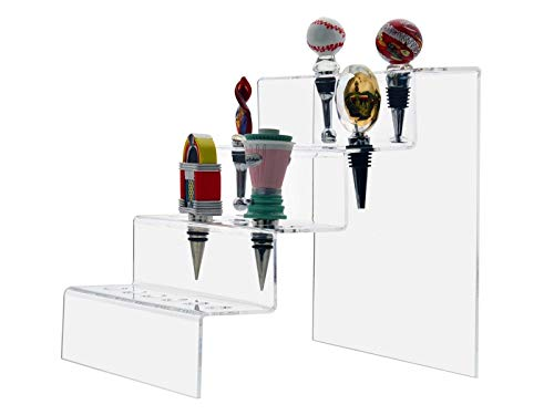 Marketing Holders Bottle Stopper 24 Slot 4 Tiered Premium Acrylic Display Rack Lot of 4 by Marketing Holders (Image #2)