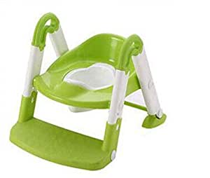 BOC Escalera del Inodoro para Niños Inodoro Niño Orina Orinal Silla para Baño Infantil Asiento de Inodoro Plegable con Reposabrazos Soporte Adecuado para 1-5 Años de Edad,B,Pretil
