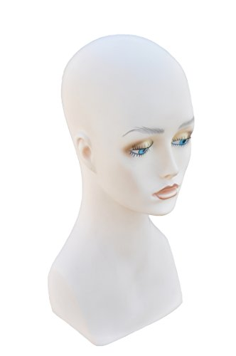 Wig Display Female Mannequin Head 15 Inch Wig,Hat,Sun glasses, Jewlery - Face Sunglasses