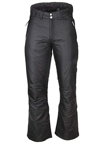(Arctic Quest Womens Black Insulated Pocket Ski Snow Pants, 2XL)