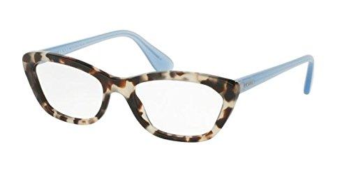 Prada PORTRAIT PR03QV Eyeglass Frames UAO1O1-52 - Spotted Opal Brown - Women Eyeglasses Prada