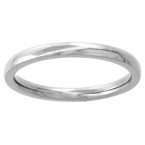 Titanium Wedding Thumb Comfort Fit Polish