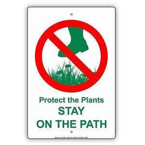 KARPP Cartel de Aluminio Proteger Las Plantas y mantenerlas ...