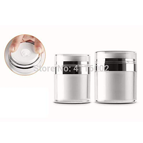 XuBa 100pcs 30g/30ML Airless Acrylic Cream Jar Round Vacuum Cream Bottle Cosmetic Makeup Jars Packing Pump Bottle Show