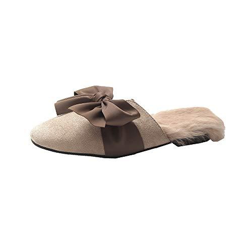 Una Baotou Interior Antideslizante Bajo black Wear Otoño resistente Beige Hogar Tacón Felpa 38 Cómodo De Algodón Palabra Invierno E Willsky Zapatos Zapatillas Las Cálidas Mujeres qU1Z81w