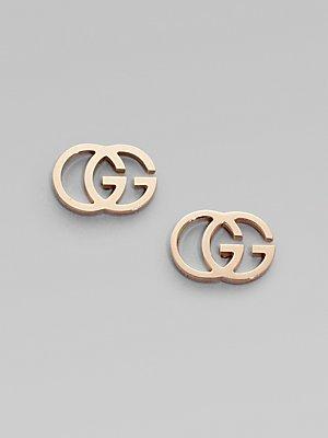 GUCCI GG TISSUE rose gold 18kt earrings YBD094074003