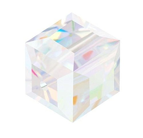 - 50 6mm Adabele Austrian Cube Crystal Beads Clear AB Compatible with Swarovski Crystals Preciosa 5601 SSC602