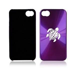 Purple Apple iPhone 4 4S 4G A100 Aluminum Hard Back Case Sea Turtle